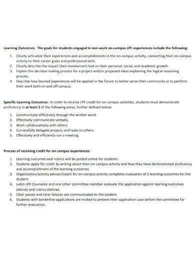on campus leadership goals for students