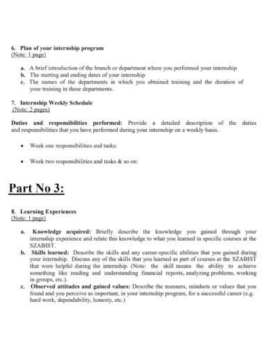 organization internship weekly report