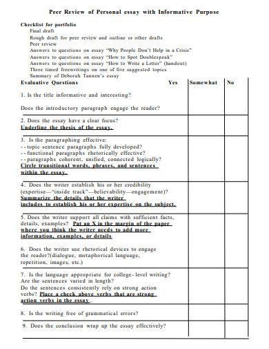 personal short informative essay