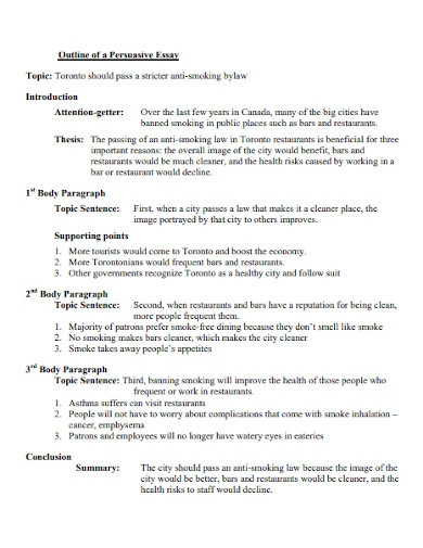 persuasive essay outline for students