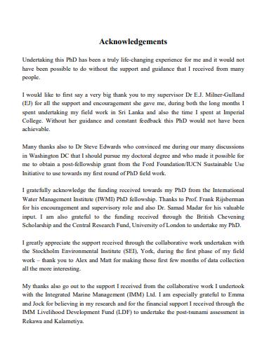 phd acknowledgement report