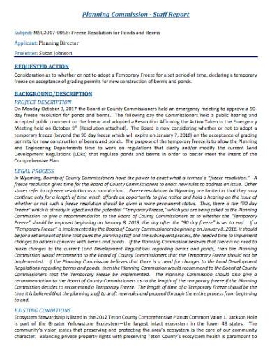 planning commission staff report