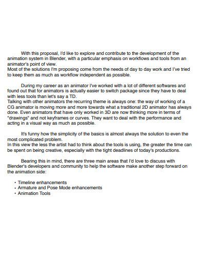 printable animation proposal