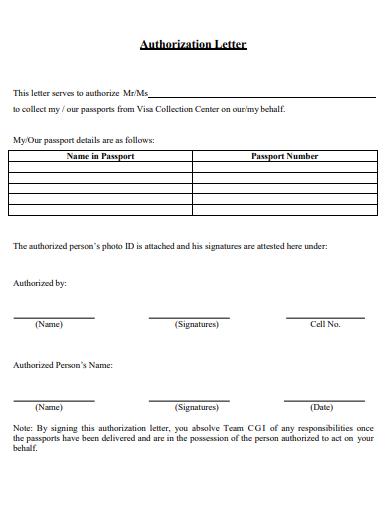 printable authorization