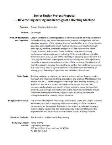 printable mechanical engineering proposal