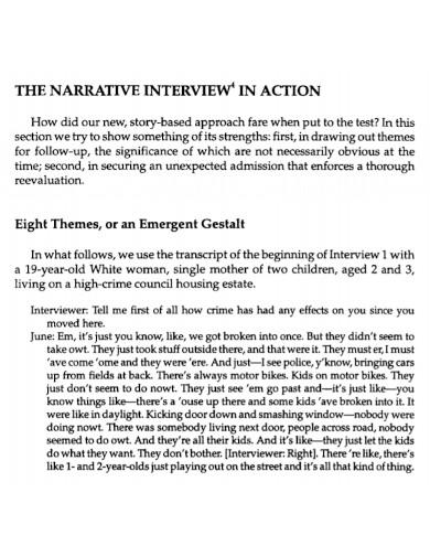 printable narrative interview report