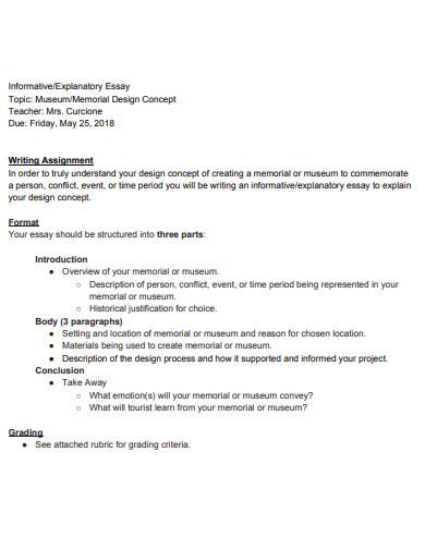 printable short informative essay