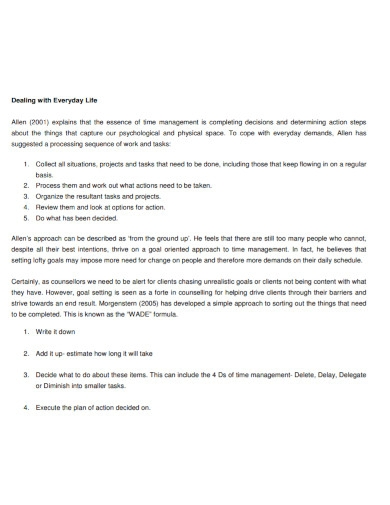 printable time management goal