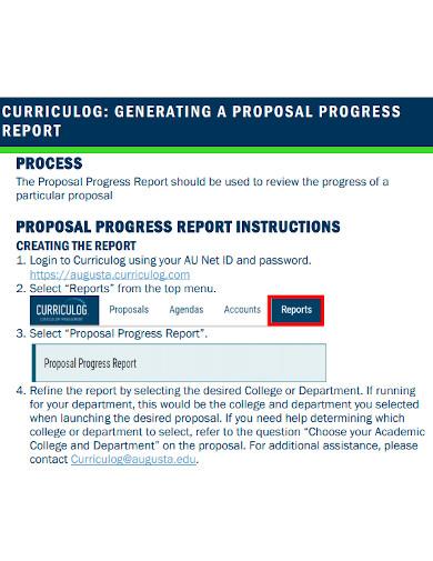 proposal generating report