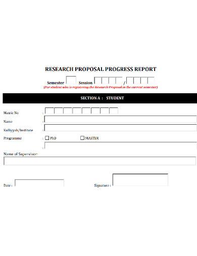 proposal progress report