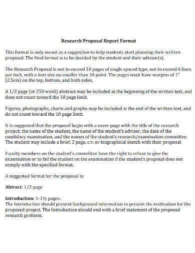 proposal report format