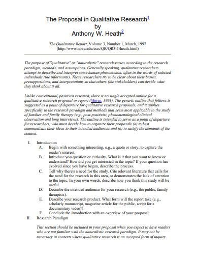 proposal in qualitative research template