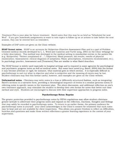 psychiatric soap note template