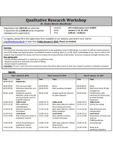 qualitative research workshop proposal