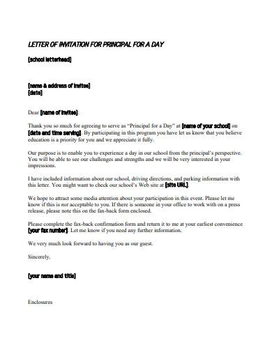 request letter of invitation for principal