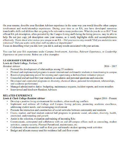 resume opening statement format