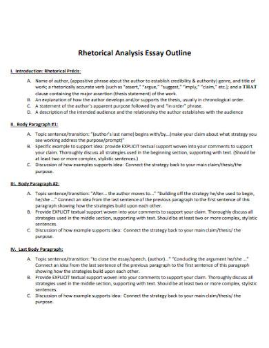 rhetorical analysis essay outlines