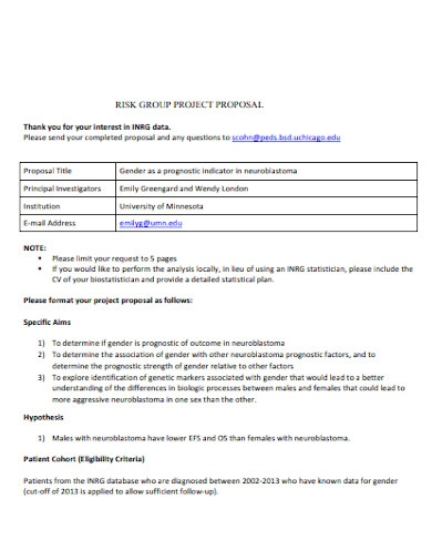 risk group project proposal