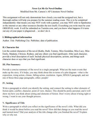 sample novel outline