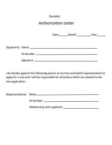 sample aurthorization letter