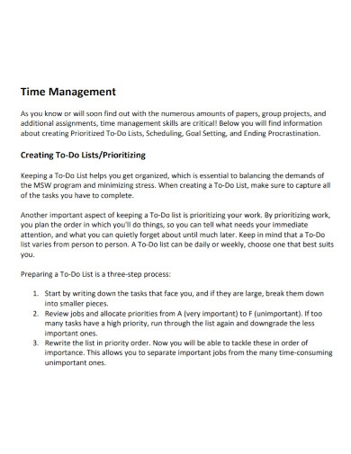 scheduling time management goal