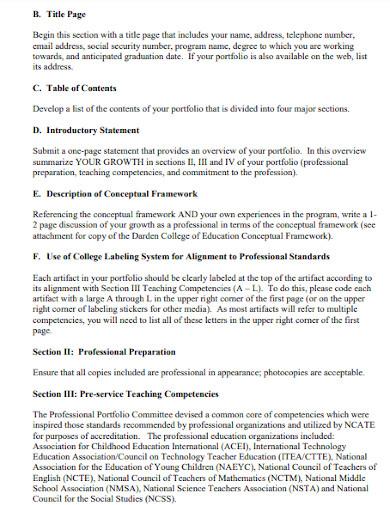 self introduction of portfolio in example