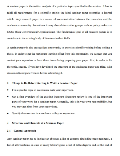 seminar papers outline template