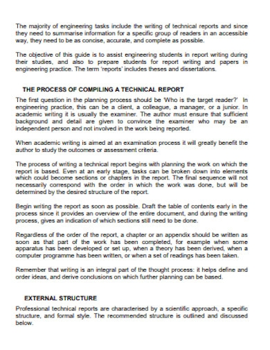 short compiling technical report