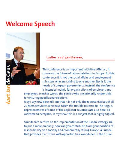 short welcome speech example