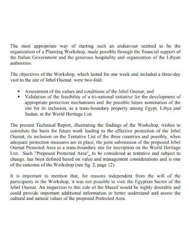 short workshop technical report