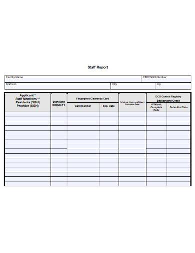 staff report template