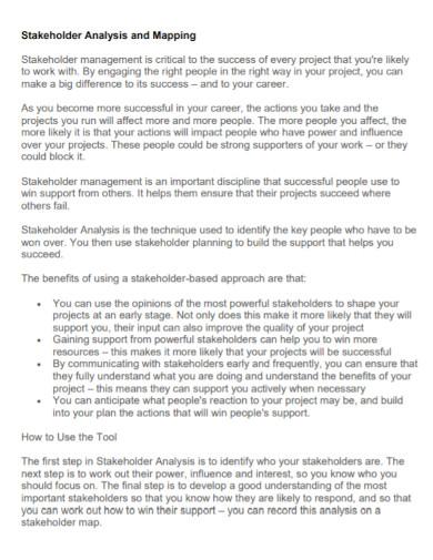 stakeholder analysis mapping