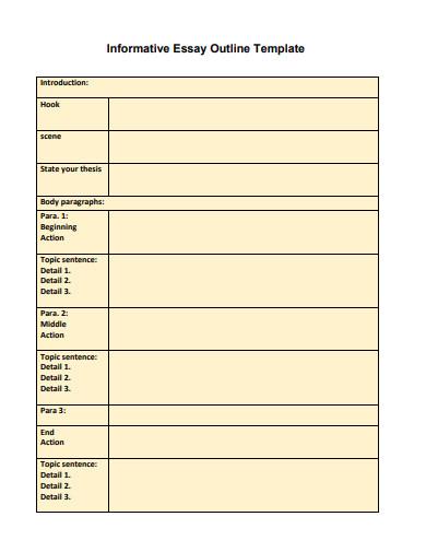 standard informative essay outline