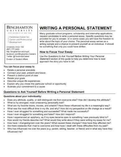state university personal statement