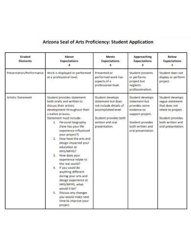 student application artist statement