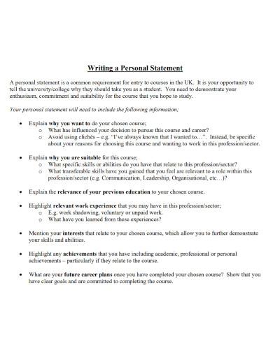 students university personal statement