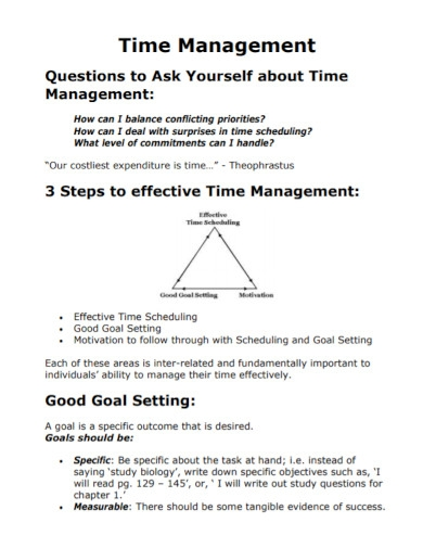 time management goal setting