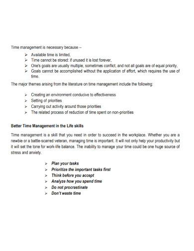 time management goal