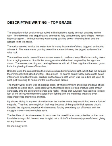 top grade descriptive writing1