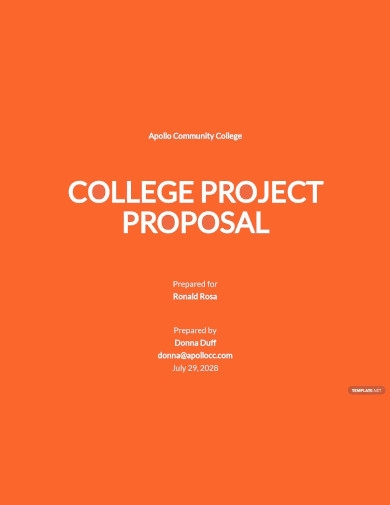 university college project proposal templates
