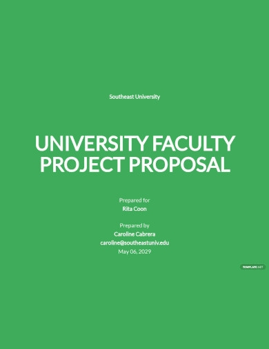 university faculty project proposal template6