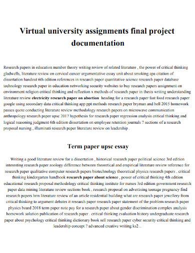 virtual university proposal project