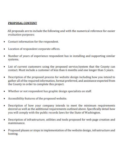 website services proposal