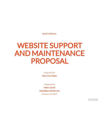 website support maintenance proposal
