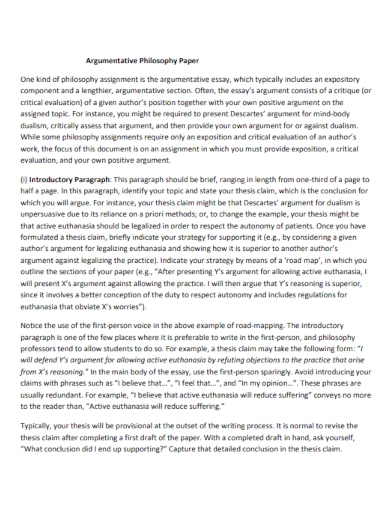 augumentative philosophy paper
