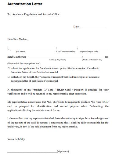 aurthorization letter for company