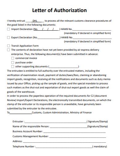 aurthorization letter in pdf