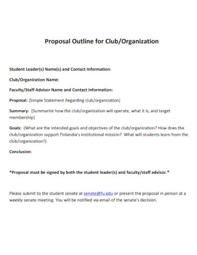 club organization proposal