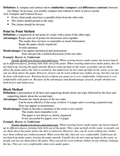editable comparision essay