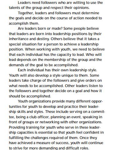 leadership development training goals